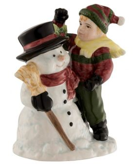 Aynsley Snowman and Boy figurine image