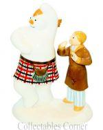 Coalport Snowman Highland Fling Snowman Character Figure