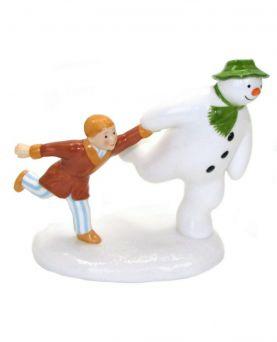 The Adventure Begins Coalport Snowman Figurine