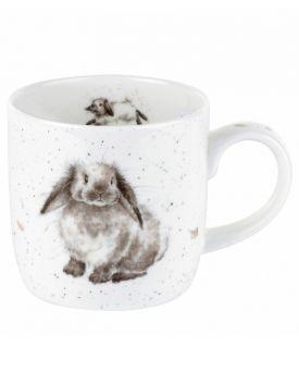 Royal Worcester Wrendale Designs Rosie Rabbit Mug 8.5 x 8 cm