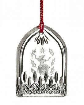Nine Ladies Waterford Lismore Crystal Glass Tree Ornament. Wedgwood