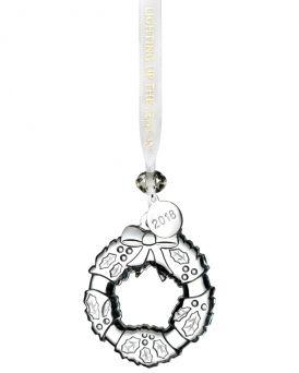 Waterford Mini Wreath Crystal Glass Tree Ornament.