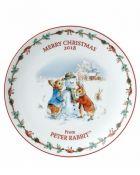 Wedgwood Peter Rabbit Christmas Plate 2018