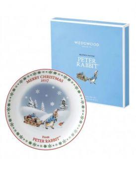 Wedgwood Peter Rabbit Christmas Plate 2017