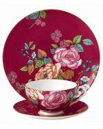 Wedgwood Tea Garden Raspberry 3-Piece Set