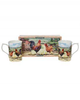 Cockerel and Hen The Leonardo Collection 2pc Mug set