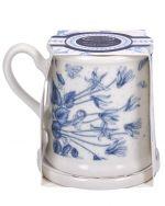 Portmeirion Botanic Blue Tankard Mug and Coaster set