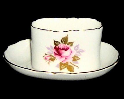 Aynsley ENGLISH ROSE Fine Bone China Trinket Pot & Saucer