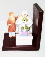 Coalport Snowman and James Snowman Bookend Figure