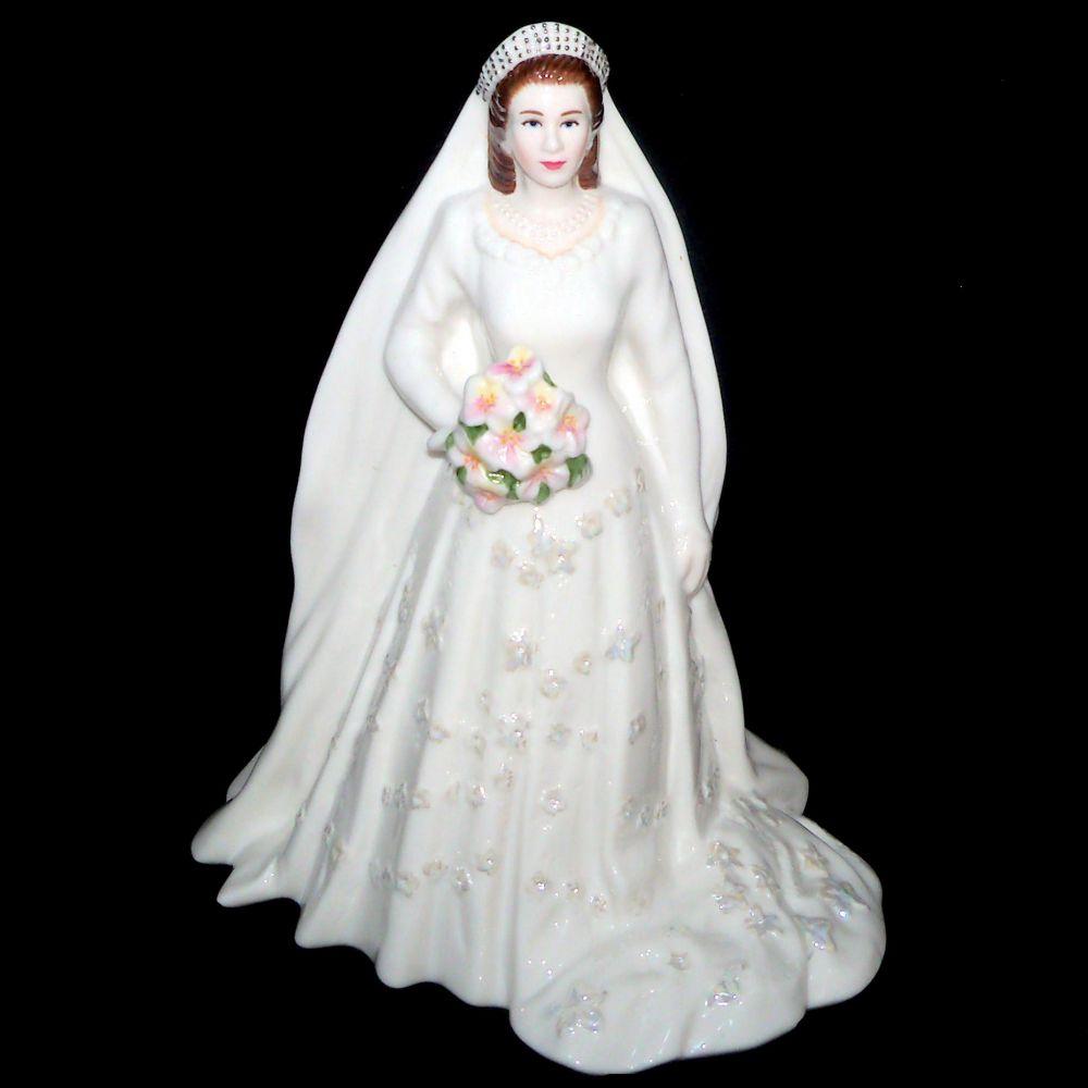Queen Wedding: Royal Worcester HER MAJESTY QUEEN ELIZABETH 11 Diamond
