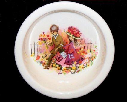 Carlton Ware Round Dish Signed Foster