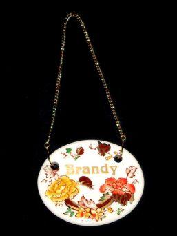 Masons Mandalay BRANDY Ironstone Decanter Label