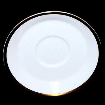 Minton Horizon White with Gold Trim Demitasse Saucer H5252