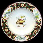 Minton Oriental Blossom Rimmed Soup Bowl S767