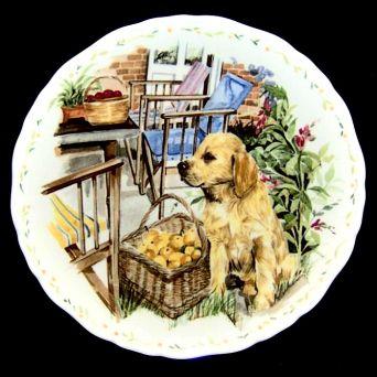Royal Albert COMPANIONSHIP Mans Best Friend Collection Plate