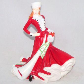Royal Doulton Christmas Day 2007 Pretty Ladies Figurine HN4911