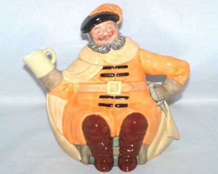 Royal Doulton FALSTAFF Character Tea Pot D6854
