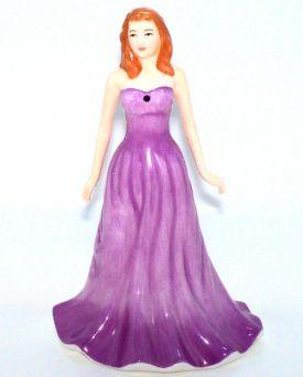 February Amethyst HN4971 Royal Doulton Gemstones Figurine