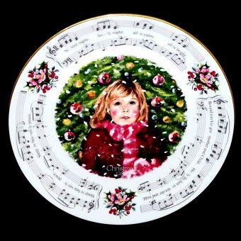 Royal Doulton SILENT NIGHT Christmas Carols Xmas Plate
