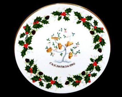 Royal Grafton FIVE GOLD RINGS Twelve Days of Christmas Plate 1980