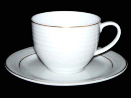Noritake Arctic Gold Tea Cup & Saucer 4001