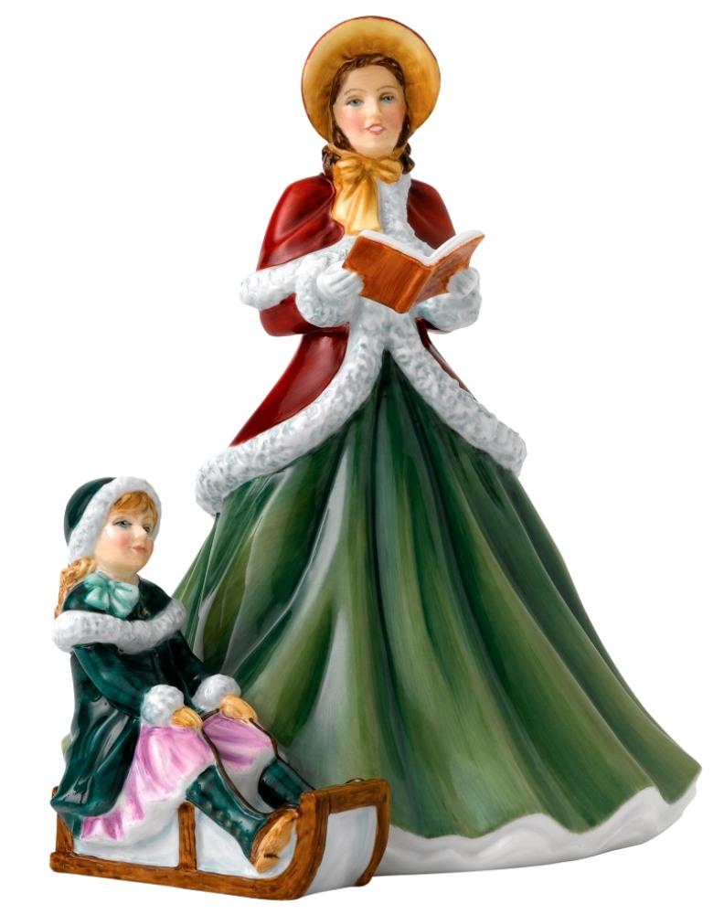 Christmas Carol Singers Figurines.I Heard The Bells On Christmas Day Hn5858 Royal Doulton Carol Singers Figurine