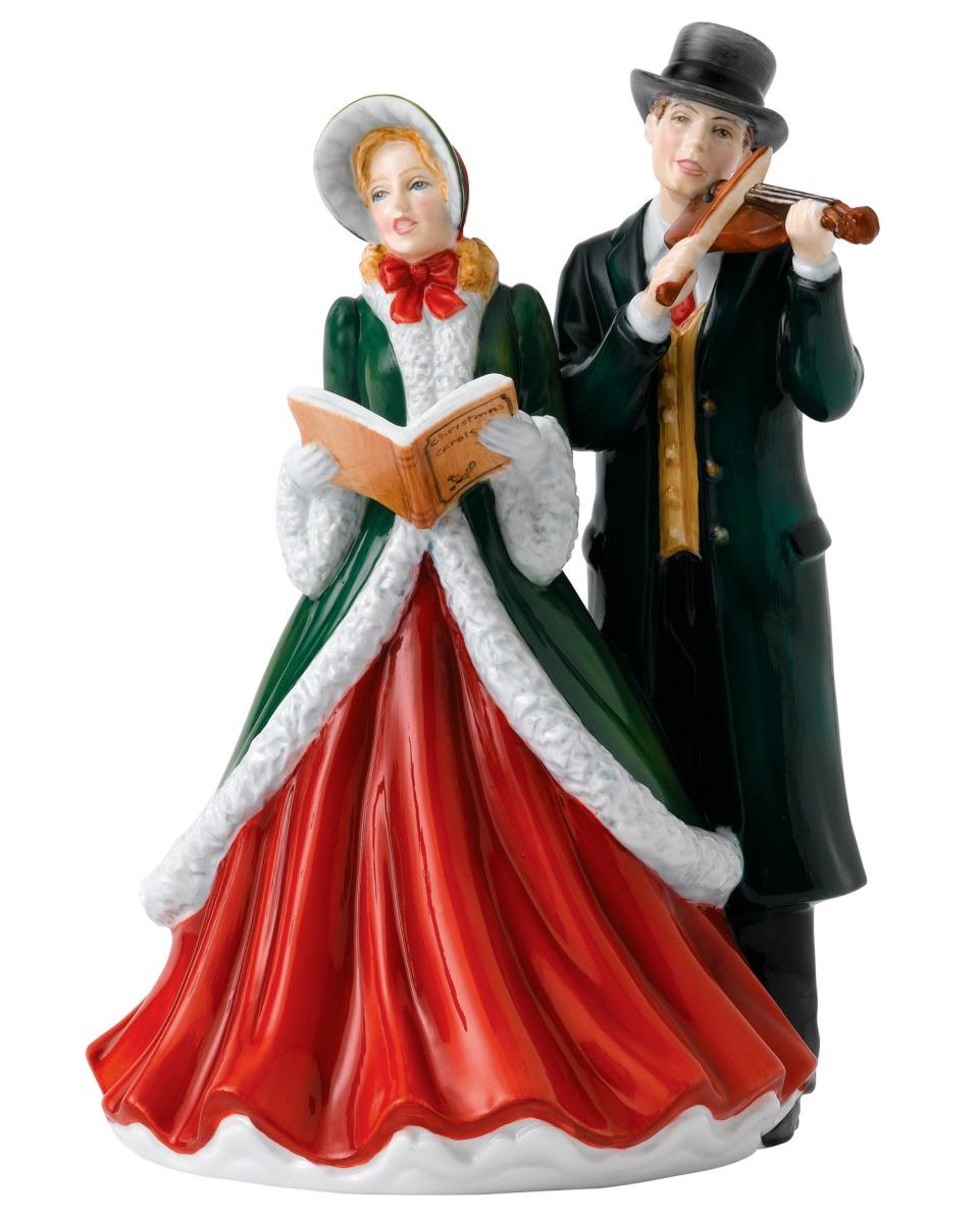 Christmas Carol Singers Figurines.Hark The Herald Angels Sing Hn5859 Royal Doulton Carol Singers Figurine
